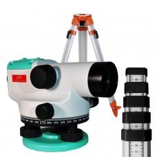 LSP LX-32 SET - комплект: нівелір оптичний + штатив + рейка