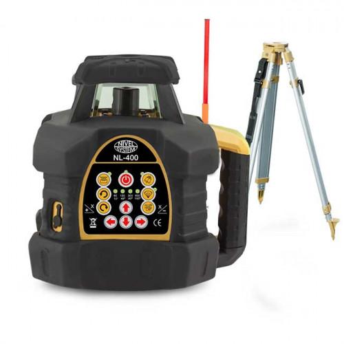NIVEL SYSTEM NL400G SET - комплект лазерного ротаційного нівеліра (зелений промінь)